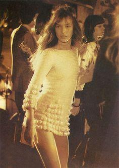 Jane Birkin mini-robe avec pompons