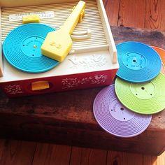 Vintage Fisher Price Record player, ook helemaal geweldig, jeugdsentiment