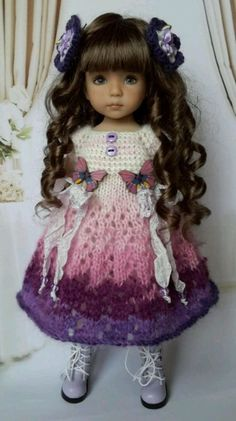 """OOAK Outfit for doll 13"""" Dianna Effner Little Darling) collection romantic"""