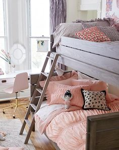 We're here to inspire you with some fabulous girls bedroom ideas that your little one is sure to love. With a variety of great themes to choose from, you can find the right one to fit her personality, whether she likes ballerinas, mermaids, or outer space. From furniture to theme to wall decor and more, we've got the ideas and inspiration to get you designing the ultimate girls room.