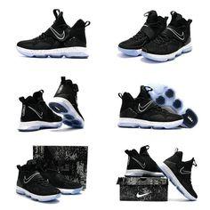 the best attitude 8d712 dc216 Lebron Basketball Shoes 2017 For Men Size US 7-13 Nike Lebron 14 XIV Black  Ice CHASE DOWN 921084-002 Oreo 2017