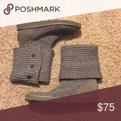 Grey Wool Woven Ugg Boots Lightly worn wool woven Ugg boots UGG Shoes Winter & Rain Boots