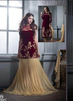 Wholesale Designer Suit In Velvet Fabric