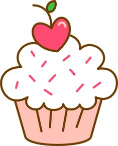 Cupcake Tumblr, Cupcake Png, Girl Birthday Cupcakes, Cupcakes For Boys, Christmas Cupcakes Decoration, Tumblr Png, Art Drawings For Kids, Cute Kawaii Drawings, Cute Doodles