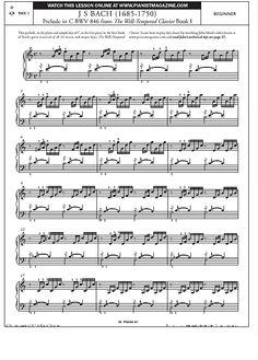 Prelude in C BWV 846 from The Well-Tempered Clavier Book 1 >>> KLICK auf die Noten um Reinzuhören <<<