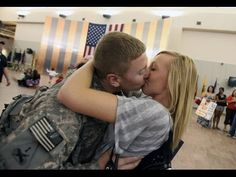 Videos of soldiers surprising their families