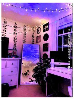Indie Room Decor, Cute Room Decor, Aesthetic Room Decor, Hippie Bedroom Decor, Cheap Room Decor, Tumblr Room Decor, Gothic Bedroom, Room Design Bedroom, Room Ideas Bedroom