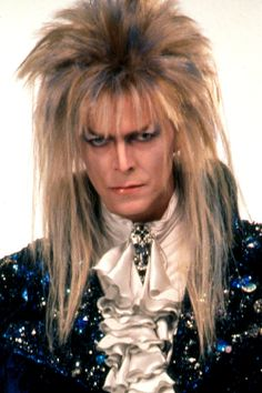 David Bowie as Jareth in Laberinth. He is so very beautiful, handsome, and very alluring