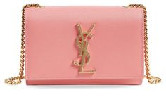 YVES SAINT LAURENT Mono Leather Wallet on a Chain