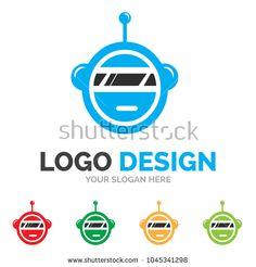Robot logo Design Vector EPS