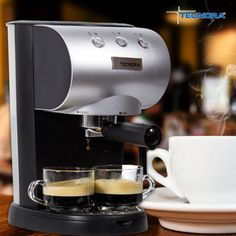 Get that perfect espresso with the touch of a button.