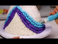 """Laurie Shannon """"The Icing Artist"""" teaches the easy way to make WOW-worthy desserts with just a few simple tools and ingredients. Baby Doll Cake, Barbie Doll Birthday Cake, Barbie Cake, Birthday Cake Girls, Birthday Cakes, Doll Cake Designs, Cake Designs For Girl, Easy Cake Decorating, Cake Decorating Techniques"""