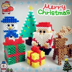Merry Christmas perler beads by shirley117