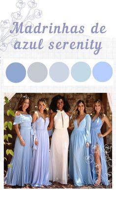Blue Wedding, Wedding Bride, Wedding Colors, Dream Wedding, Wedding Day, Wedding Gowns, Blue Bridesmaids, Bridesmaid Dresses, Country Wedding Centerpieces