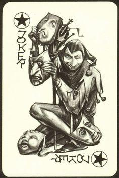 Joker Clown, Joker Art, Batman Art, Playing Card Tattoos, Joker Playing Card, Unique Playing Cards, Playing Cards Art, Joker Card Tattoo, Evil Clown Tattoos