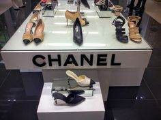 ByNilüfer Satorius  New York Editor Paris in Rome 2015/16 Métiers d'ArtandSummer 2016 Collections' shoetrends by Chanelon display at Bloomingdale's, New York. TOP: CHANEL Paris in Rome 2015/16 Métiers d'Art Collection Shoes & Mules. Suede goatskin and grosgrain, beigeandblack.
