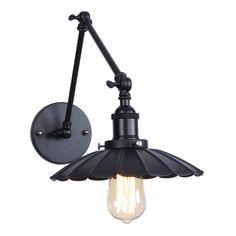 Starodávna nástenná čierna lampa Chester s čiernym tienidlom (4) Wall Sconce Lighting, Sconces, Industrial Wall Lights, Bedroom Vintage, Led, Chester, Decoration, Stairs, Indoor