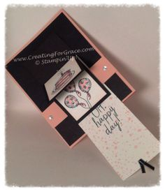 Stampin'Up! Waterfall Sketched Birthday Card open