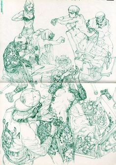 itsmicolmota:  cool sketches by Kim Jung Gi