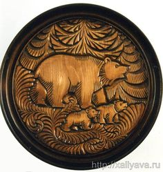 Abramtsevo wood carving.