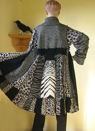 Cruella would love this one. Reconstructed clothing