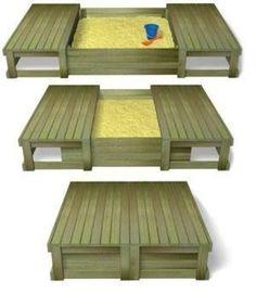 Комфортные и удобные песочницы для детей на даче