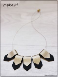 hook n loop design english: Geometric Necklace DIY