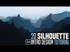 After Effects Tutorial: Silhouette Landscape Intro Motion Design, Photoshop Tips, Photoshop Tutorial, Vfx Tutorial, Cgi, Adobe After Effects Tutorials, Learn Animation, Graph Design, 2d Design