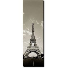 Bring the addictive charm of Paris into your home with this vertical gallery-wrapped canvas artwork, ideal for breathing life into any room. Featuring the Eiffel Tower in black and white, this canvas artwork would add a contemporary touch to your decor.