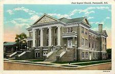 Arkansas, AR, Paragould, First Baptist Church Postcard