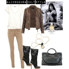 Gainsbourg Cult Style, created by patricia-teixeira on Polyvore