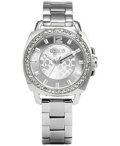 Coach Boyfriend Small Bracelet Watch - All Watches - Jewelry Watches - Macys Discount Coach Bags, Coach Bags Outlet, Bracelets For Boyfriend, Boyfriend Watch, Boyfriend Style, Coach Handbags, Coach Purses, Handbag Accessories, Fashion Accessories