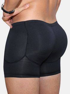 Men Breathable Butt Lift Underwear BodyBuilding Compression Boxer Detachable Pads Padded Underwear is best and cheap on Newchic Mobile. Briefs Underwear, Boxer Briefs, Mesh Underwear, Seamless Underwear, Bodybuilding, Nice Buttocks, Man Pad, Waist Trainer Corset, Sport Casual