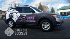 Choose your partial wrap to blend perfectly with the color of your car to make your advertising the best it can be