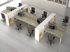 vertical storage between desks