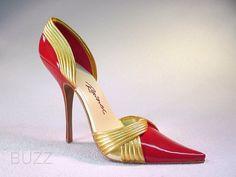 Shoe Sculpture | ... Exclusive Red Pump Gold Wrap Just the Right Shoe - Just the Right Shoe