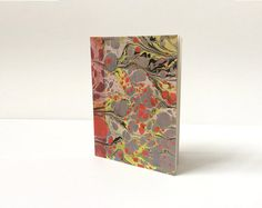 Marbled Red Fluorescent Yellow Blue and Black by StoneandVein