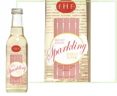 Red Hot Sparkling Soak & Body Oil from Farm House Fresh... A little splash of  the Holidays goes a long way!    www.farmhousefreshgoods.com