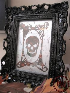 Skull Frame & Candelabra Plaque Tutorial - The Scrap Shoppe