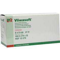 VLIWASOFT Vlieskompressen 5x5 cm steril 4l:   Packungsinhalt: 150 St Kompressen PZN: 06325565 Hersteller: Lohmann & Rauscher GmbH & Co.KG…