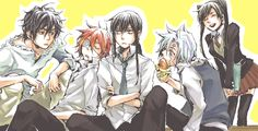 WHY DO I LOVE THEM SO MUCH!?!?!?!?!? Tags: Tyki, Lavi, Kanda, Allen, Lenalee, dgm, D. Gray-man, whatever, enjoy