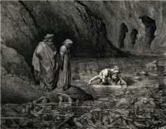 The Inferno, Canto 32 - Gustave Dore #dante #dore #divinecomedy