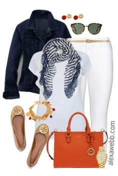 Plus Size Outfit Ideas - Weiße Jeans Ways - Mode Frauen Curvy Outfits, Mode Outfits, Jean Outfits, Classy Outfits, Plus Size Outfits, Casual Outfits, Fashion Outfits, Fashion Trends, Fashion Bloggers