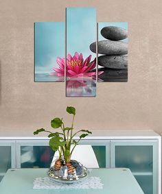 This Stillness Three-Panel Wall Art Set is perfect! #zulilyfinds