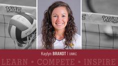 UMKC senior setter Kaylyn Brandt has been named Western Athletic Conference…