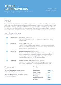 free minimal resume template - Sample Resume College Graduate