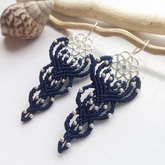 A personal favorite from my Etsy shop https://www.etsy.com/listing/567309374/sterling-silver-macrame-earrings-diy
