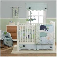 @Overstock - Your nursery will come to life with the Migi Little Whale four-piece baby bedding set. This blue whale motif of this lovely crib bedding will keep your baby's room looking fresh and bright. http://www.overstock.com/Baby/BananaFish-Migi-Little-Whale-4-piece-Crib-Bedding-Set/6027799/product.html?CID=214117 $157.05