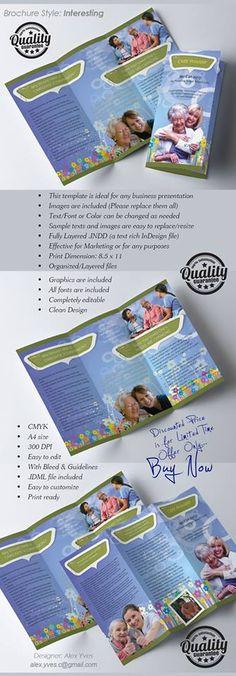 Brochure Trifold, File Organization, Text Fonts, Business Presentation, Templates, Facebook, Stencils, Vorlage, Models