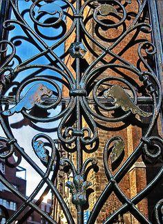 Wrought iron reflection Country Chic, Wrought Iron, Gates, City Photo, Reflection, Curvy, Art, Art Background, Kunst
